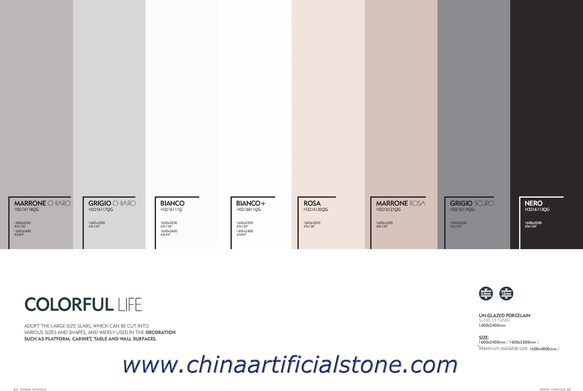 Pure Color Large Format Porcelain Tiles