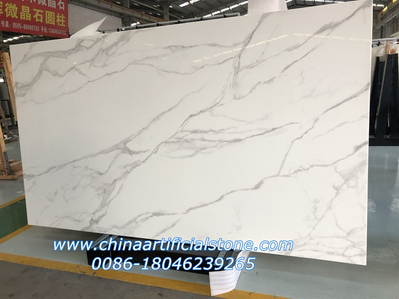 Statuario Marble Nanoglass Slabs