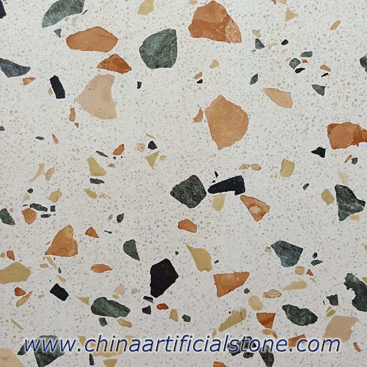 Large Colorful Aggregate Terrazzo Look Porcelain Tiles
