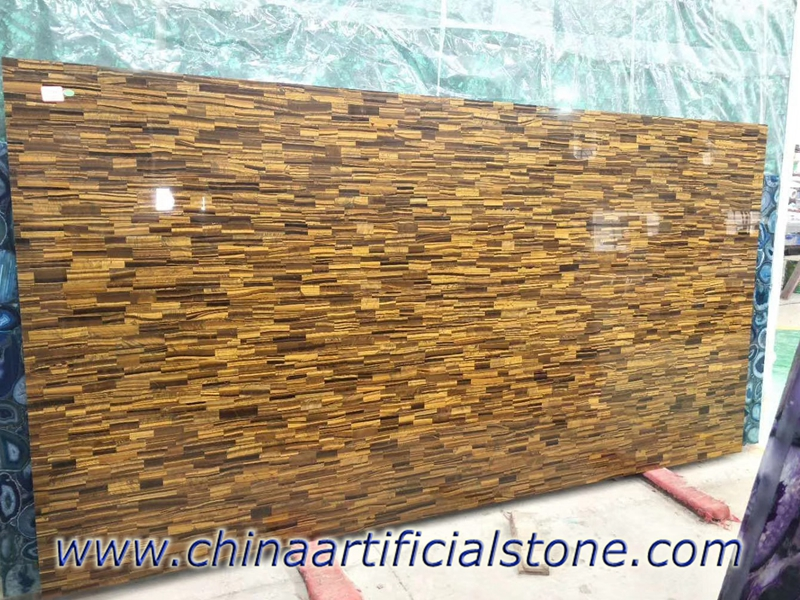 Tiger Eye Gold Gemstone Slab
