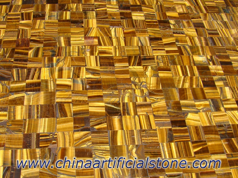 Tiger Eye Gold Cross pattern
