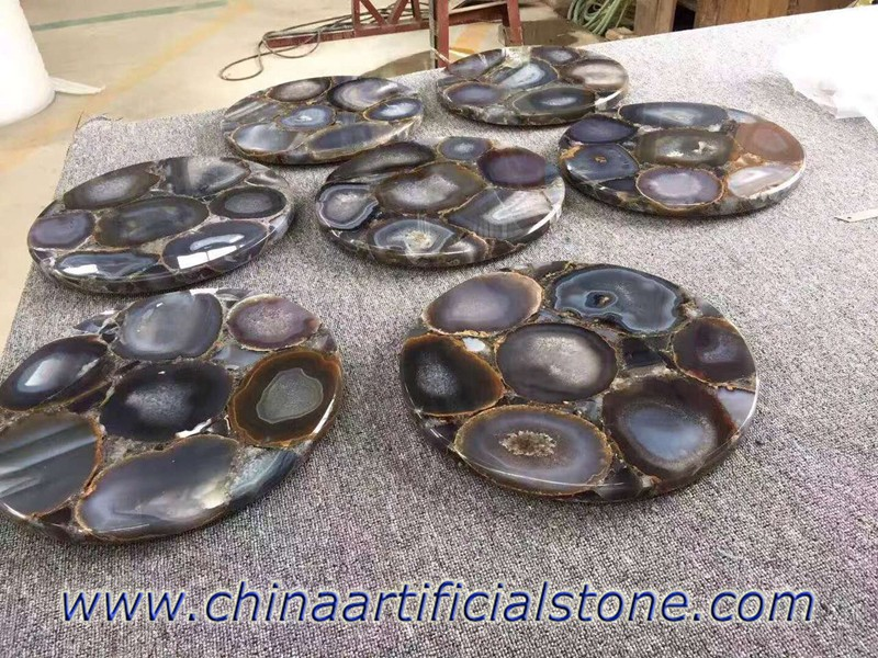 Grey Agate Round Table tops