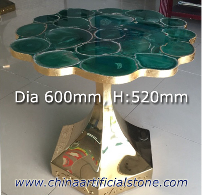 Green Agate Side Table