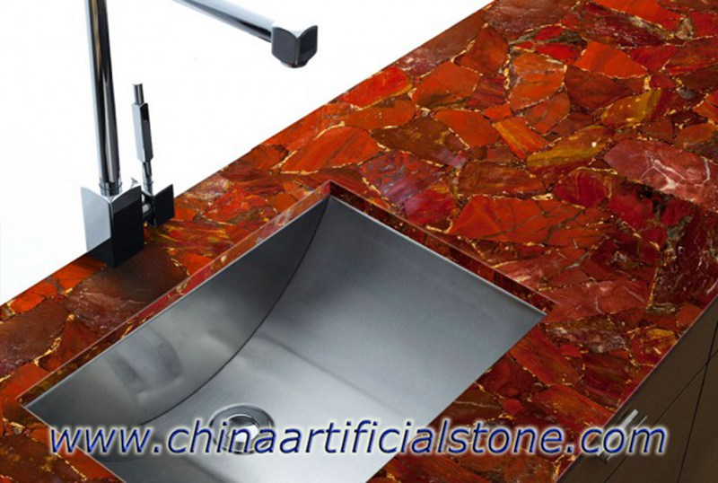 Red Gemstone Countertops