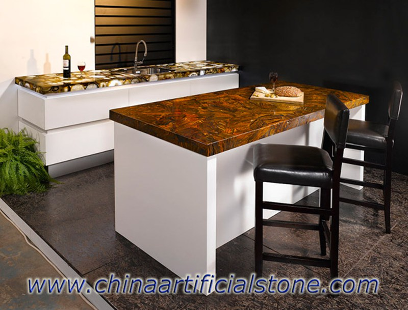 Tiger Iron Gemstone Countertops