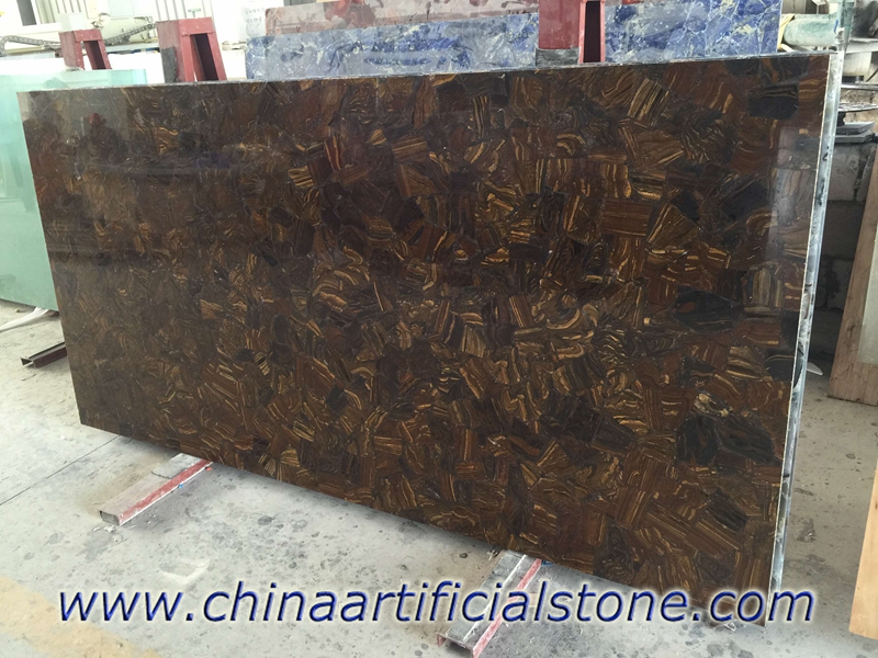 Tiger Iron Brown Gemstone slabs