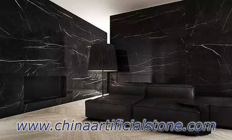 China Nero Marquina Marble Decoration effect.