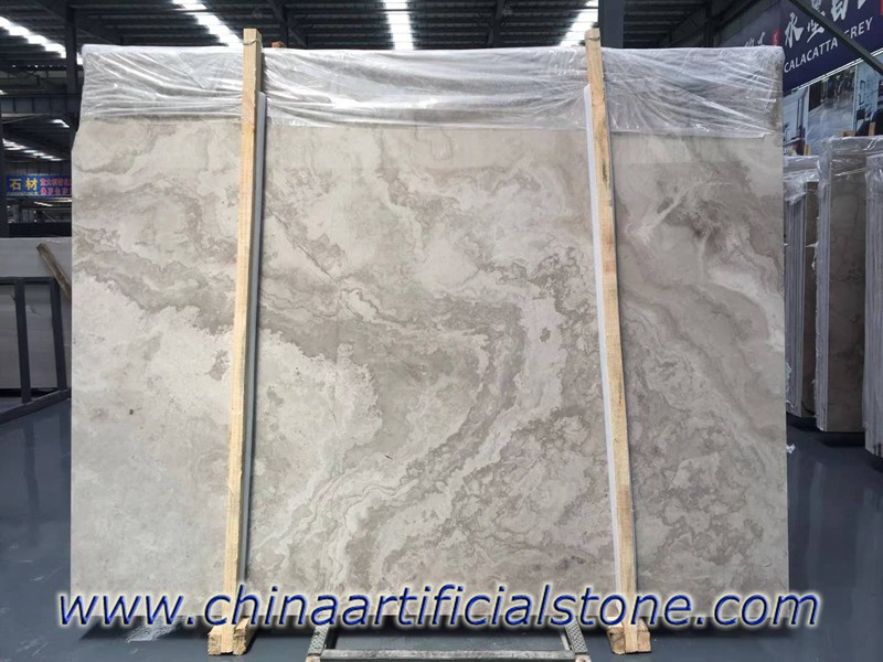 Wooden White Wood Grain Marble Cross Cut Slabs