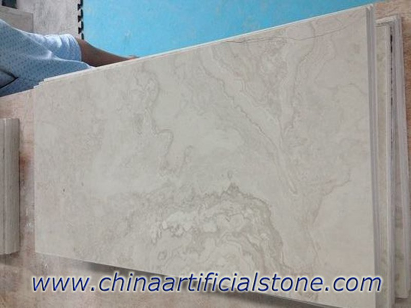 White Wood Grain Marble Cross Cut Tiles