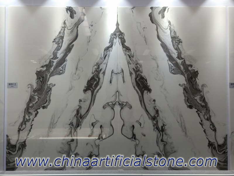 Bookmatched Faux White Onyx Panels