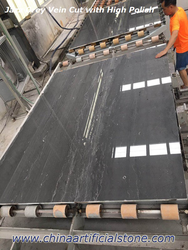 Jazz Grey China Dark Grey Marble Vein Cut Slabs