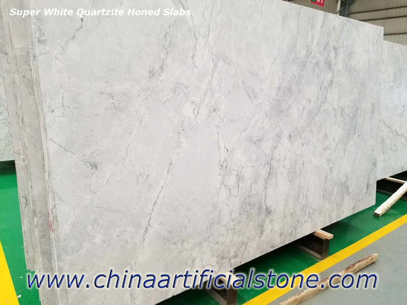 Supper White Quartzite Honed Slabs