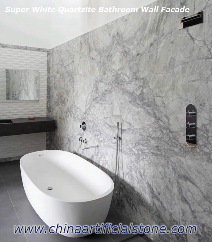 Super White Quartzite Granite Marble Dolomite Bathroom Tiles