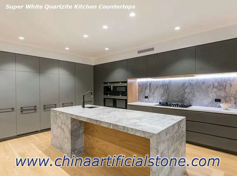 Super White Quartzite Granite Marble Dolomite Countertops