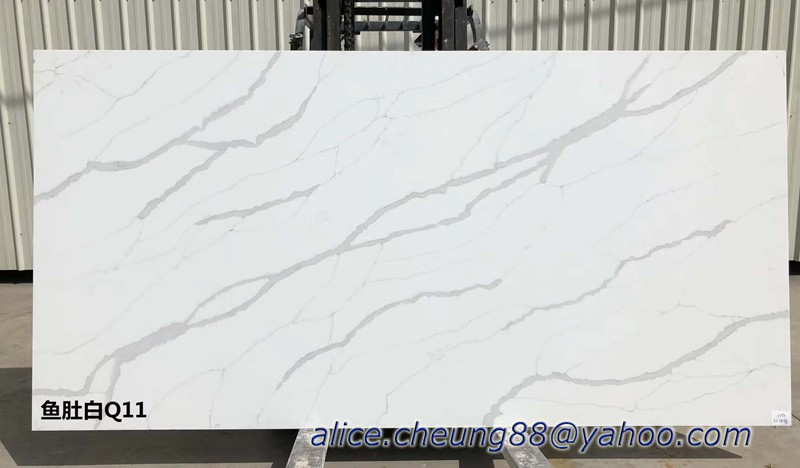 Calacatta Quartz Slabs made in Malaysia without anti dumping