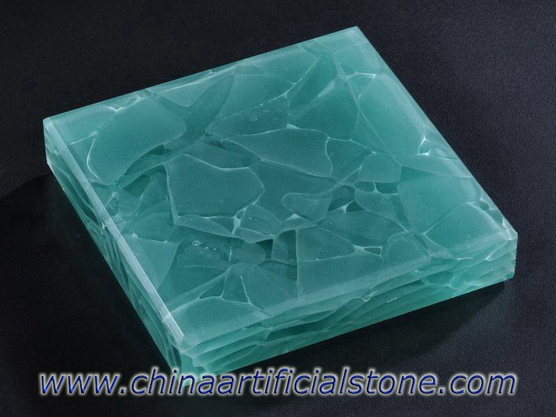 Aquamarine Jade Glass Stone Panels JGI-408