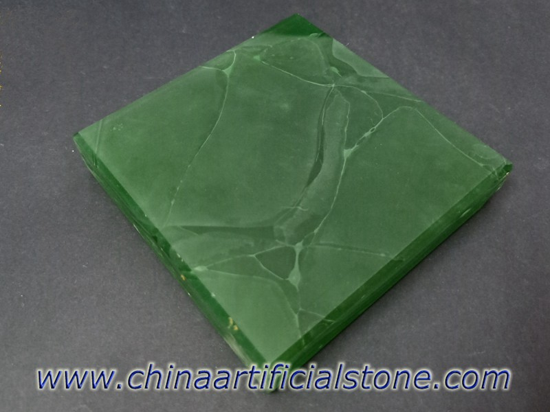 Jade Green Translucent Recycled Glass Panels JGJ-802