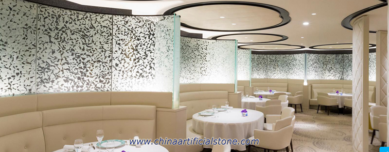Snow Flake Glass Partition Wall Panel