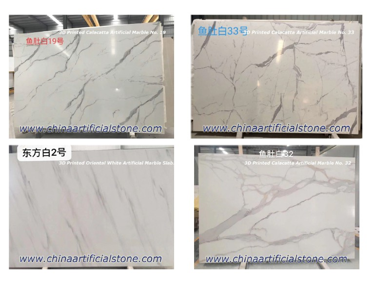 China 3D Printed Artificial Marble Slabs