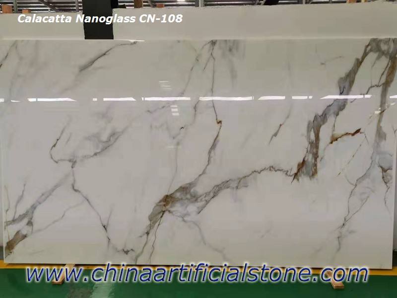 Artificial Calacatta Gold BORGHINI Nanoglass