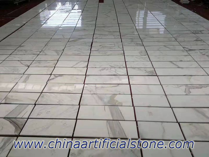 Calacatta White Marble Tiles for the Project