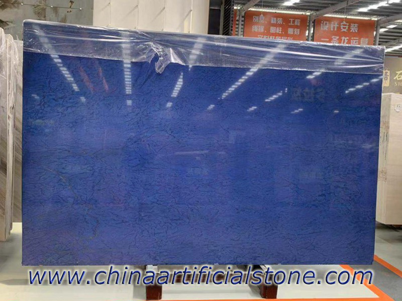 Blue Electrolytic Granite Stone Slabs for Countertops