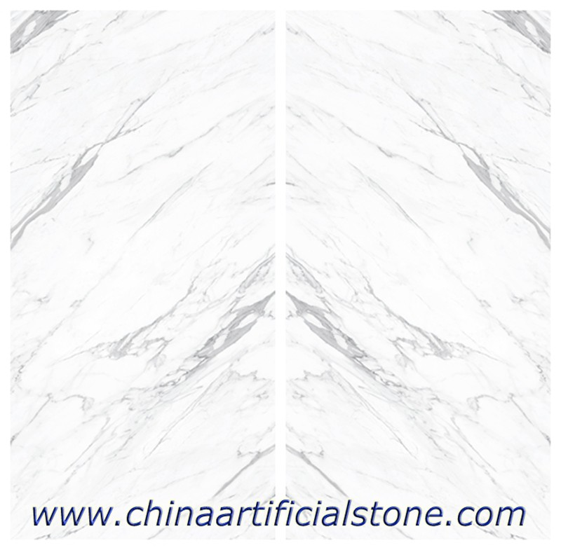 Statuario Sintered Stone Slab 1600x3200x12mm Polish