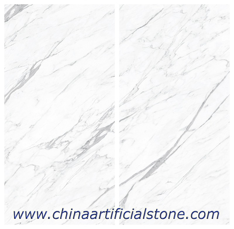 Statuario Sintered Stone Slab Matt