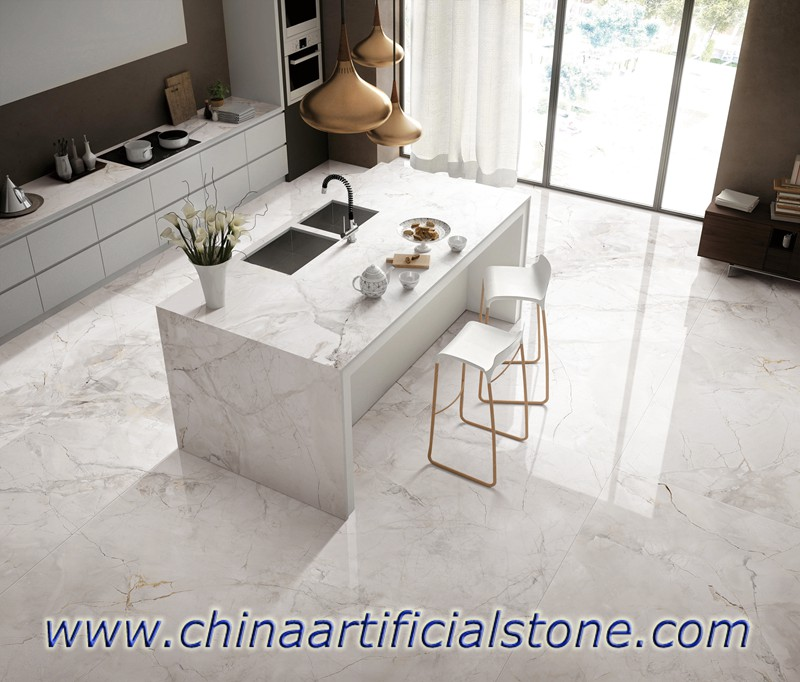 China White Porcelain Slabs for Countertops and flooring