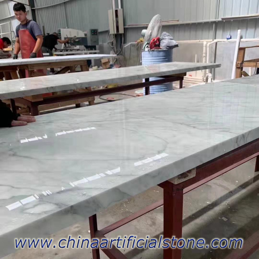 Carrara Marble Look Nanoglass Countertops