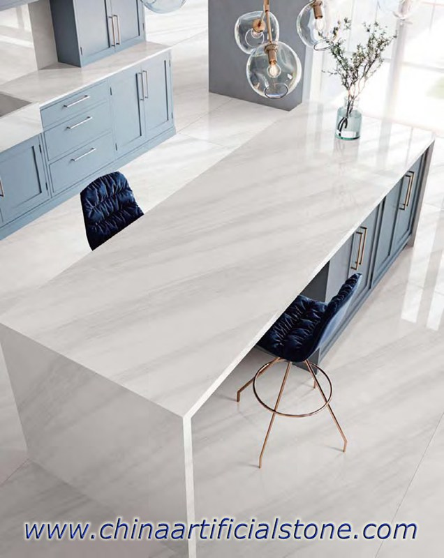 White Marble Sintered Stone Compact Surface Countertops