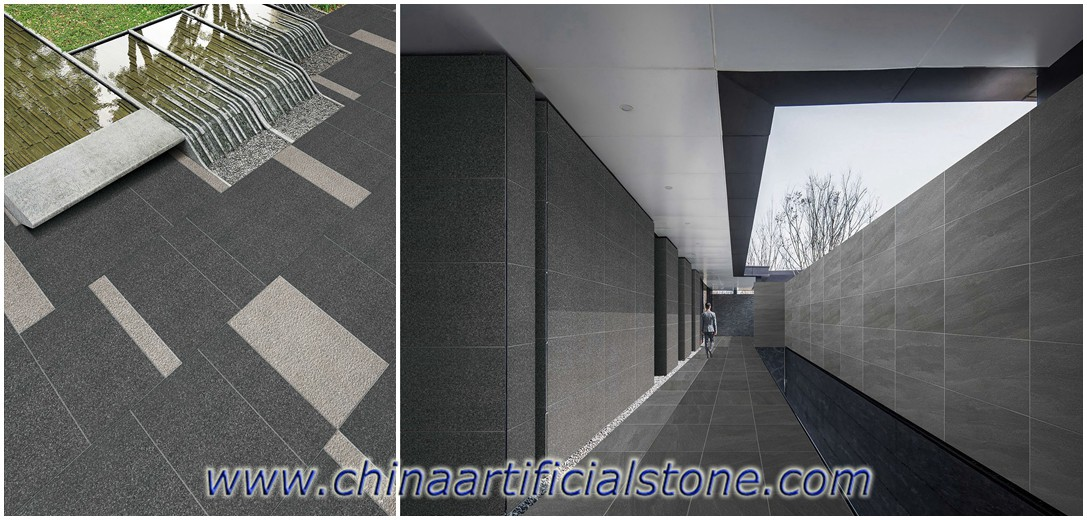Black Porcelain Paver Tiles for Outdoor Floor and Wall