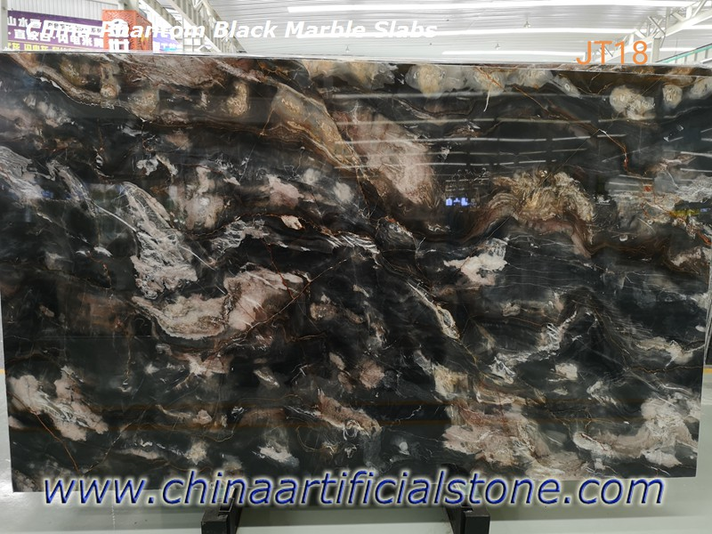 China Phantom Black Marble Slabs for Floor and Wall