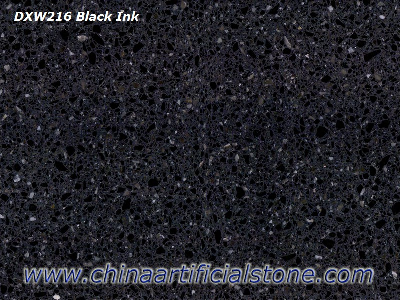 Black Terrazzo Tiles with White Particles