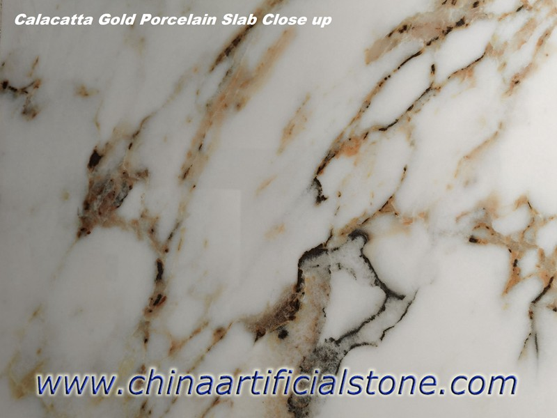 Calacatta Gold Porcelain Slab Close up