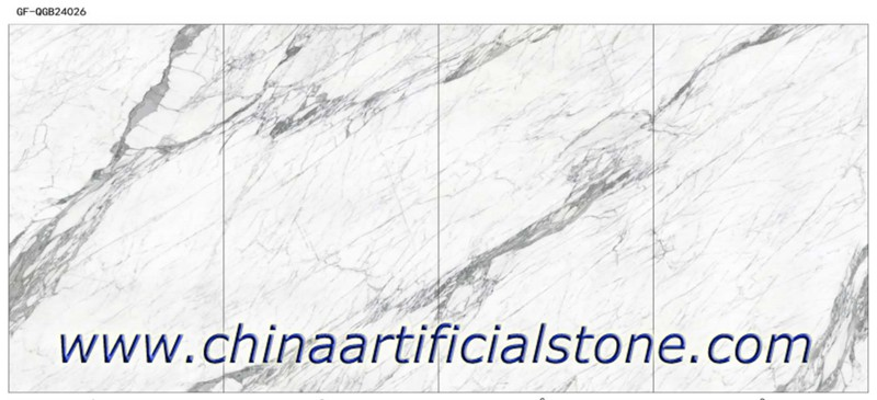 Calacutta Porcelain Slabs 2400x1200x6mm 4 faces