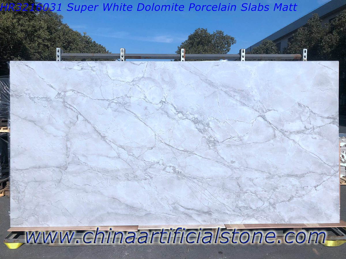 Super White Quartzite Porcelain Slabs