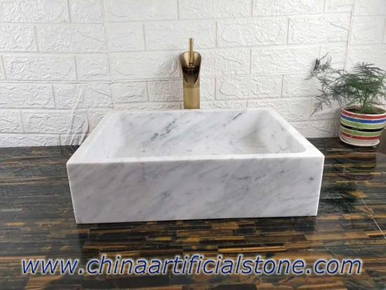 Carrara Mármol Blanco Retangle Sumideros 34x35x13cm