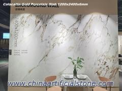 6mm Calacuta de Porcelana de la Losa 1200x2400mm para la Pared de Fondo