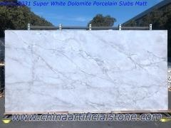 Super White Quartzite Look Sintered Stone losa